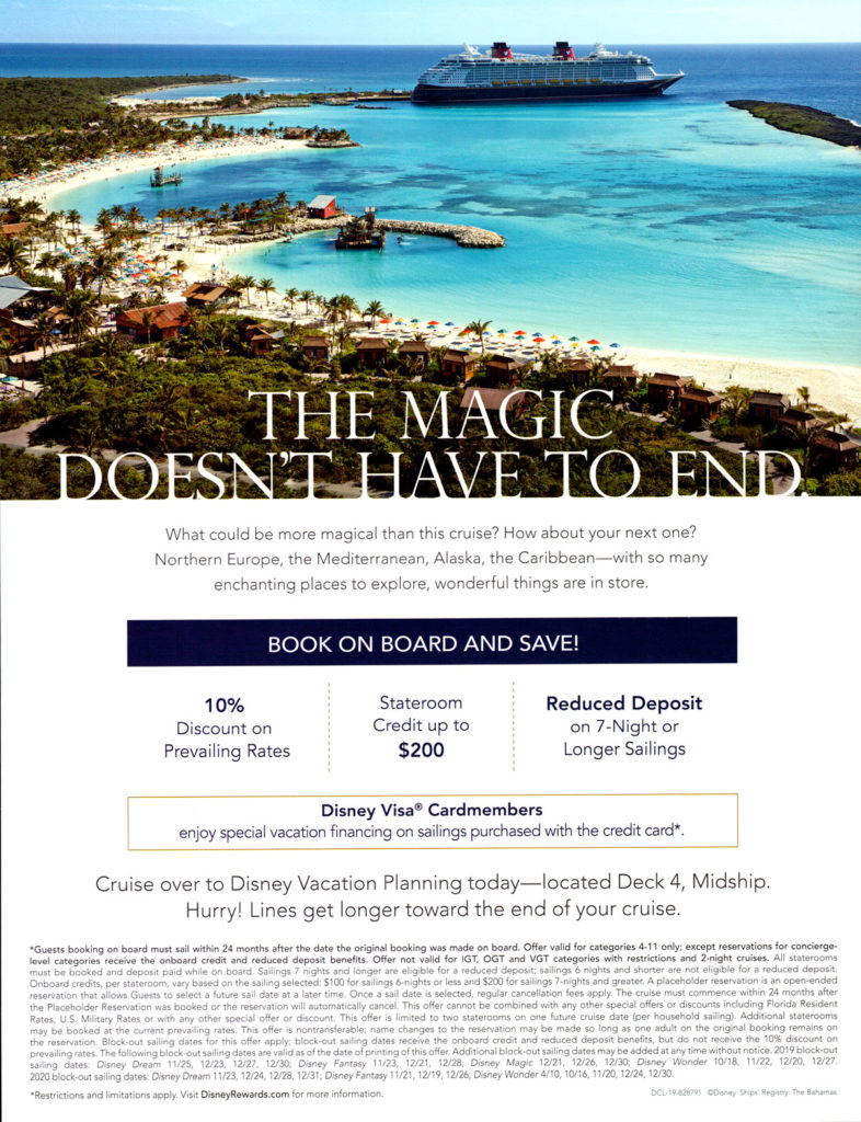 DCL Rebooking Offer June 2019 2