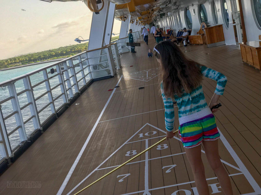 Disney Dream Shuffleboard Running