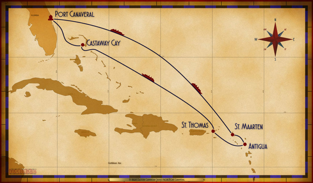 Map Fantasy 8 Night Eastern Caribbean PCV SEA SEA SXM ANU STT SEA GOC