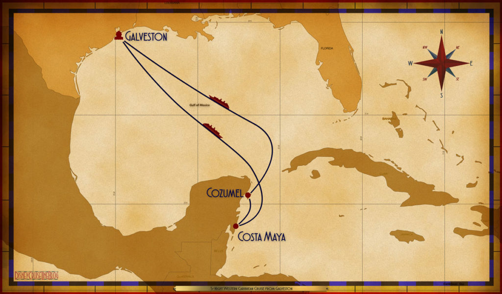 Map Wonder 5 Night Western Caribbean GLS SEA CTM CZM SEA