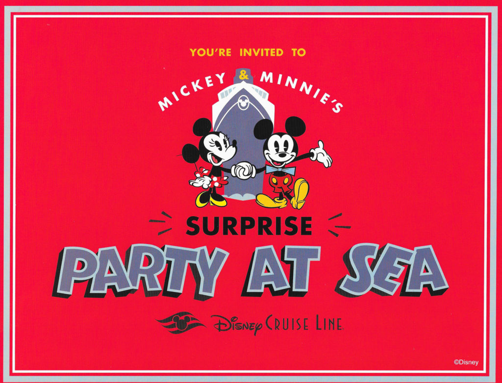 Mickey Minnie Suprise Party Sea Invitation 1
