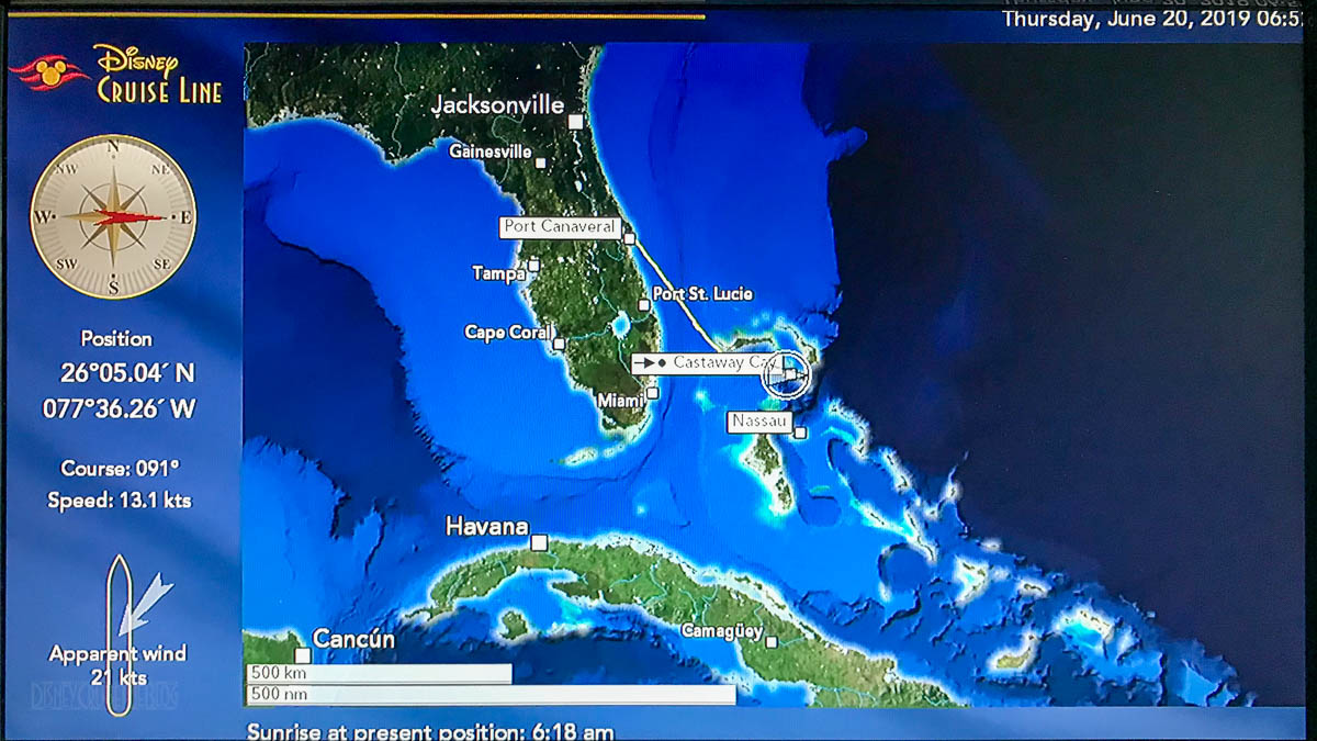 Stateroom TV Map Castaway Cay 20190620