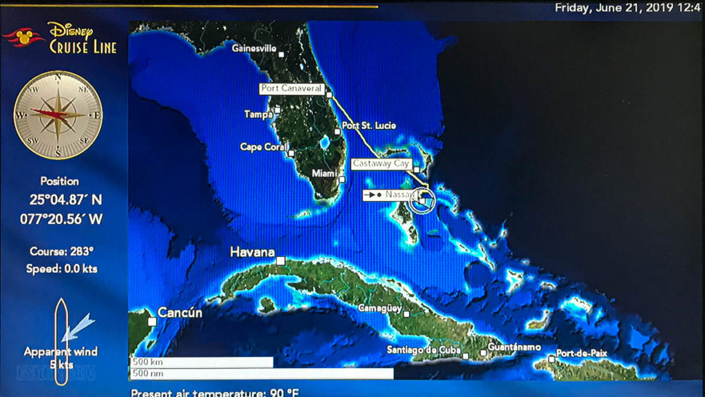 Stateroom TV Map Nassau 20190621