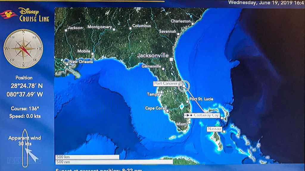 Stateroom TV Map Port Canaveral 20190619