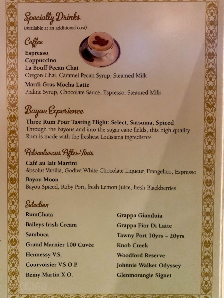 Tiana's Place Princess Regional Dessert Menu Wonder 2019