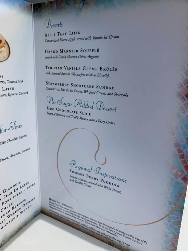 Tritons Regional Dessert Menu Wonder 2019