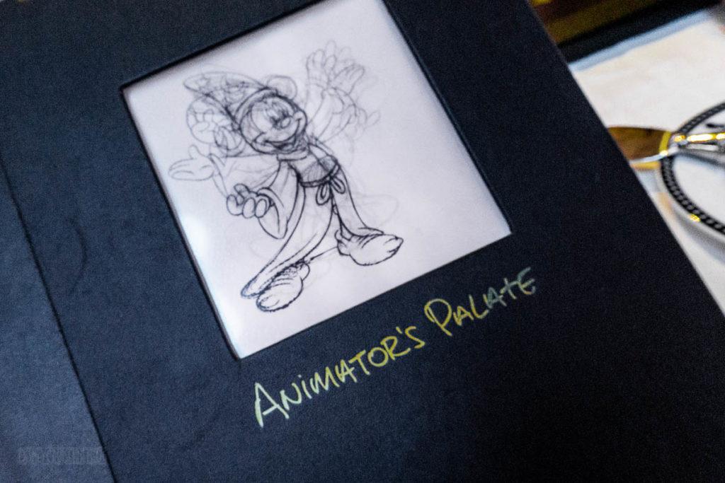 Animator's Palate Animation Magic Dinner Menu