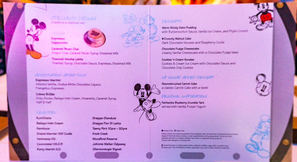 Animator's Palate Desset Menu