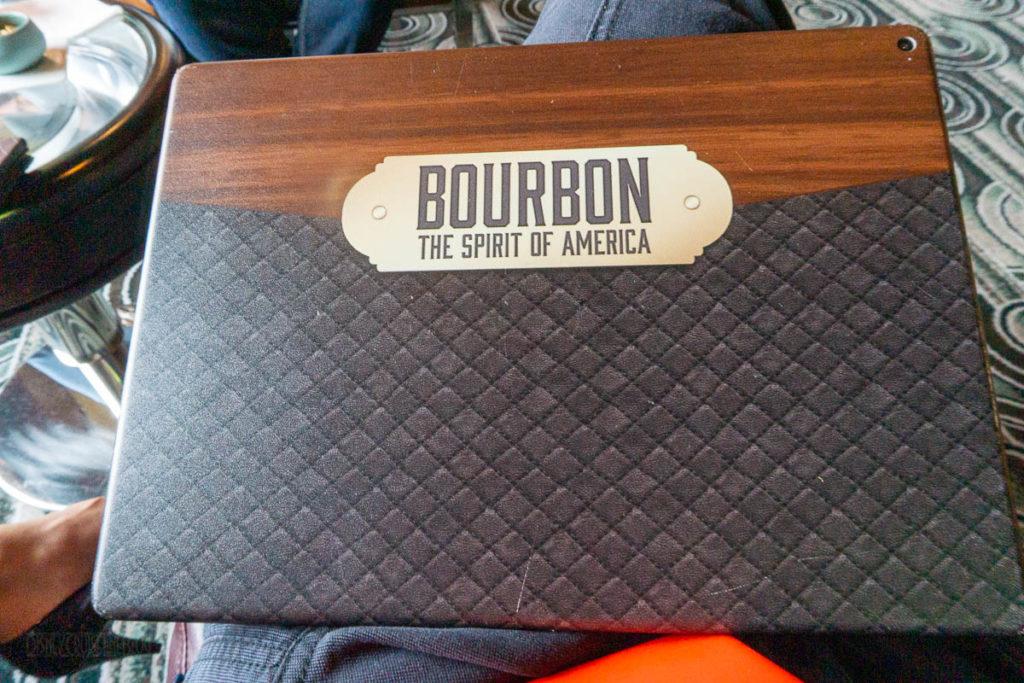 Cadillac Lounge Bourbon Experience IPad Menu