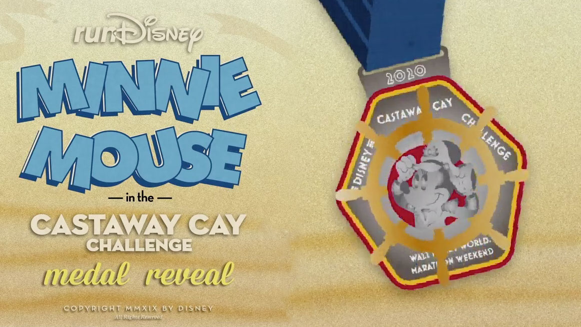 Castaway Cay Challenge 2020 Captain Minnie Medal