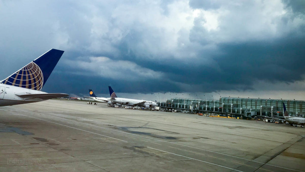 Chicago Ohara Airport ORD Storm