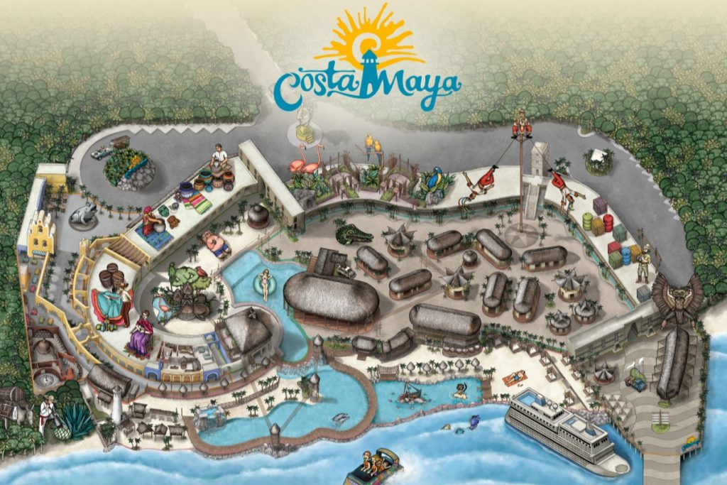 Costa Maya Port Overview Map