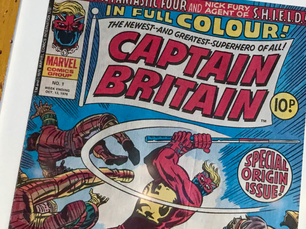 Crown Fin 90s Marvel Captain Britain Comic Book