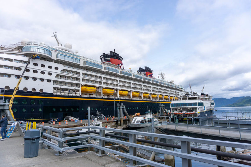 Disney Wonder Sitka Dock