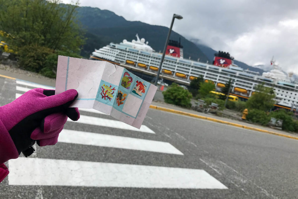 Juneau Disney Wonder Post Card Stamps