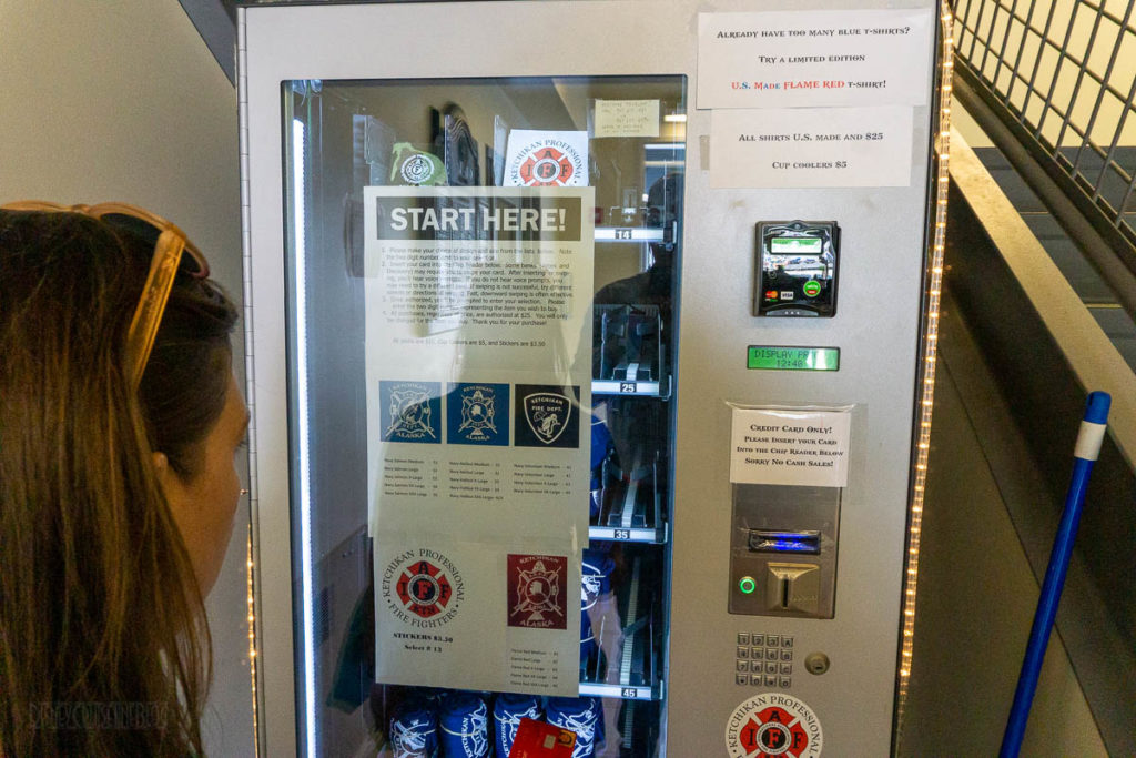 Ketchikan Fire Department T Shirt Vending Machine