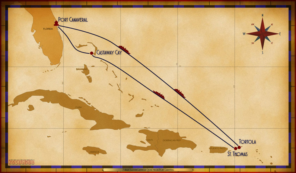 Map Dream 7 Night Eastern Caribbean PCV SEA SEA TOV STT SEA GOC