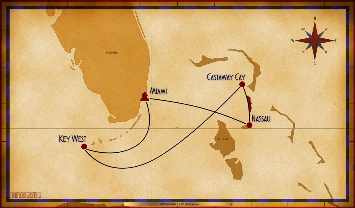Map Magic 5 Night Bahamian MIA EYW GOC SEA NAS