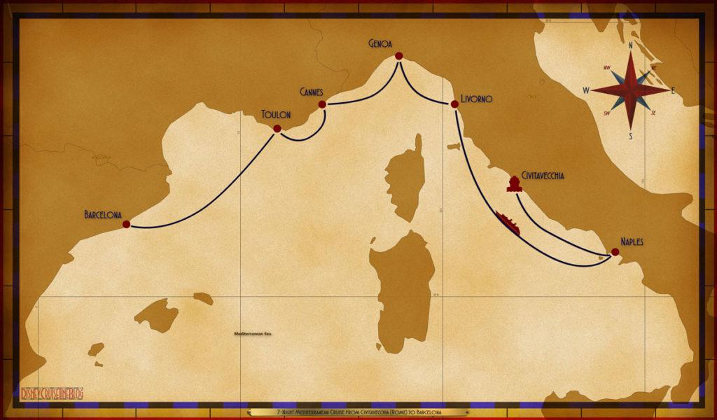 Map Magic 7 Night Mediterranean CVV NAP SEA LIV GOA CEQ TLN BCN