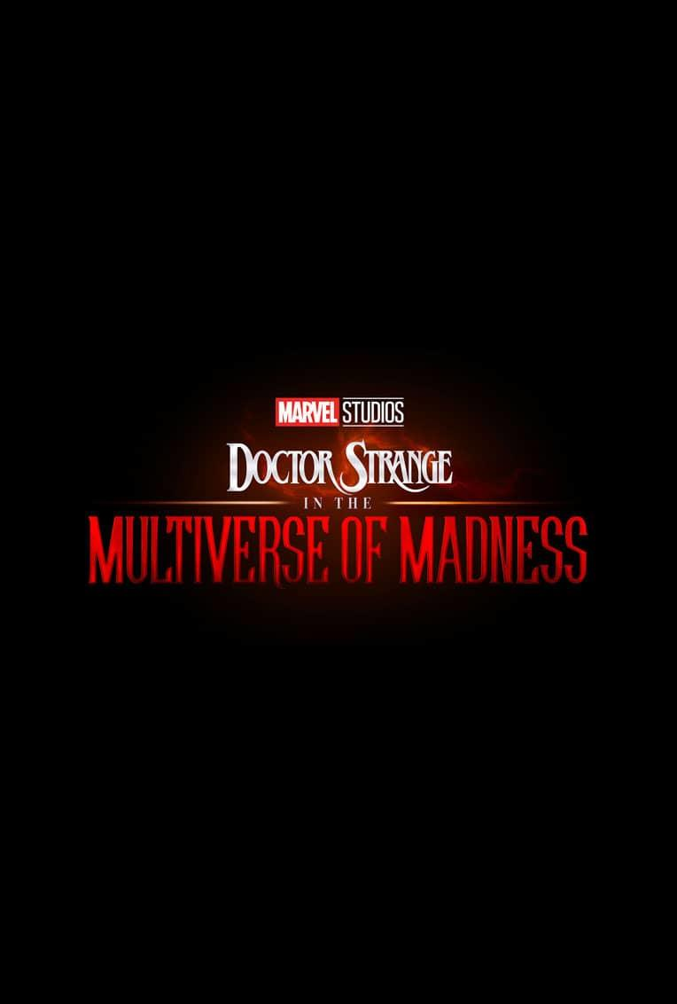 Marvel Movie Poster Doctor Strange 2 Multiverse Of Madness Title Card