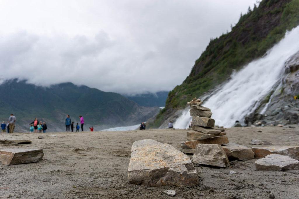 Mendenhall Glacier Nugget Falls Rock Stacking