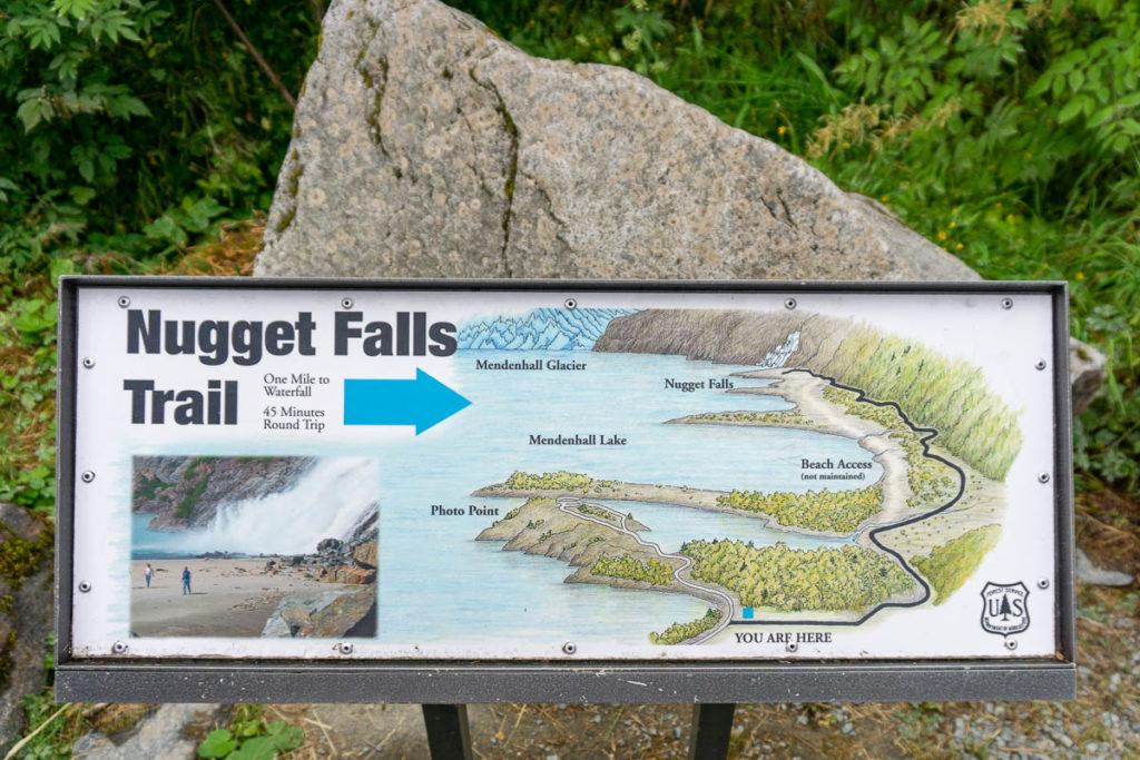 Mendenhall Glacier Nugget Falls Trail