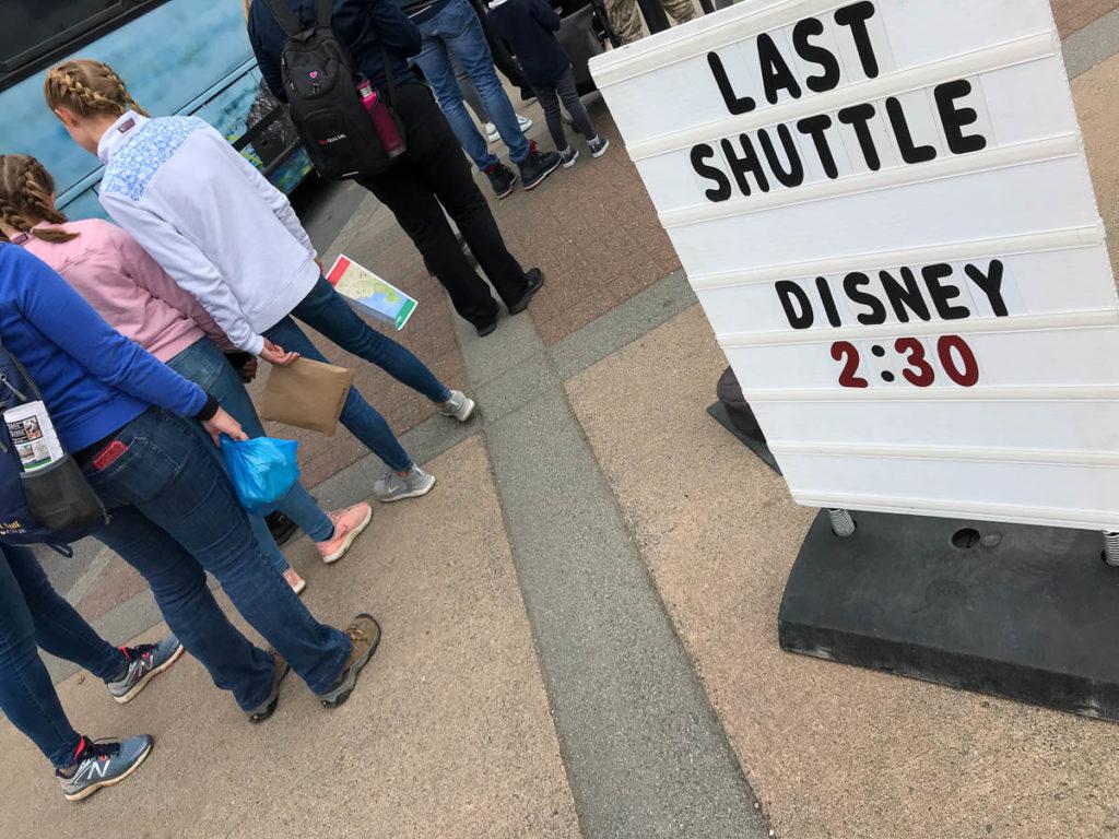 Sitka Last Shuttle Bus Sign