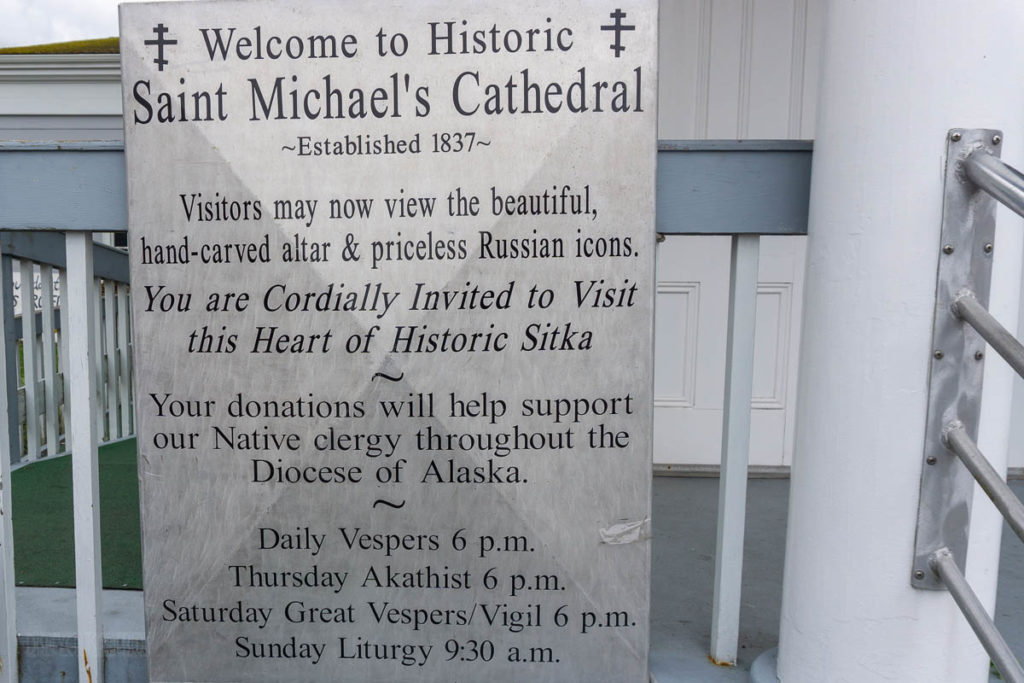 Sitka Saint Michael's Cathedral Hours