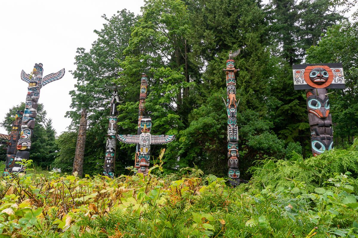 Stanley Park Indian Totem Poles