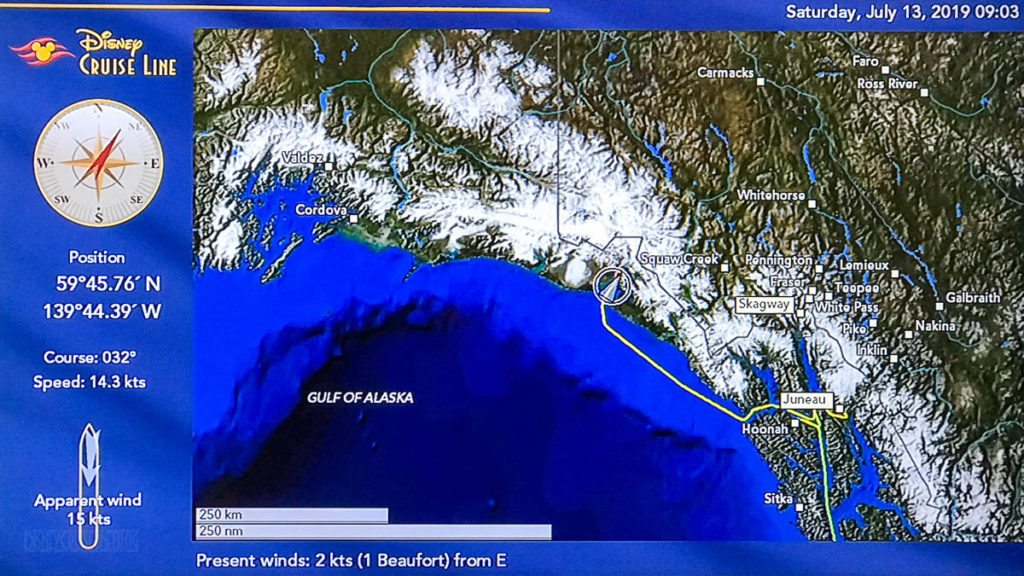 Stateroom Map Wonder Day 6 Hubbard Glacier 20190713