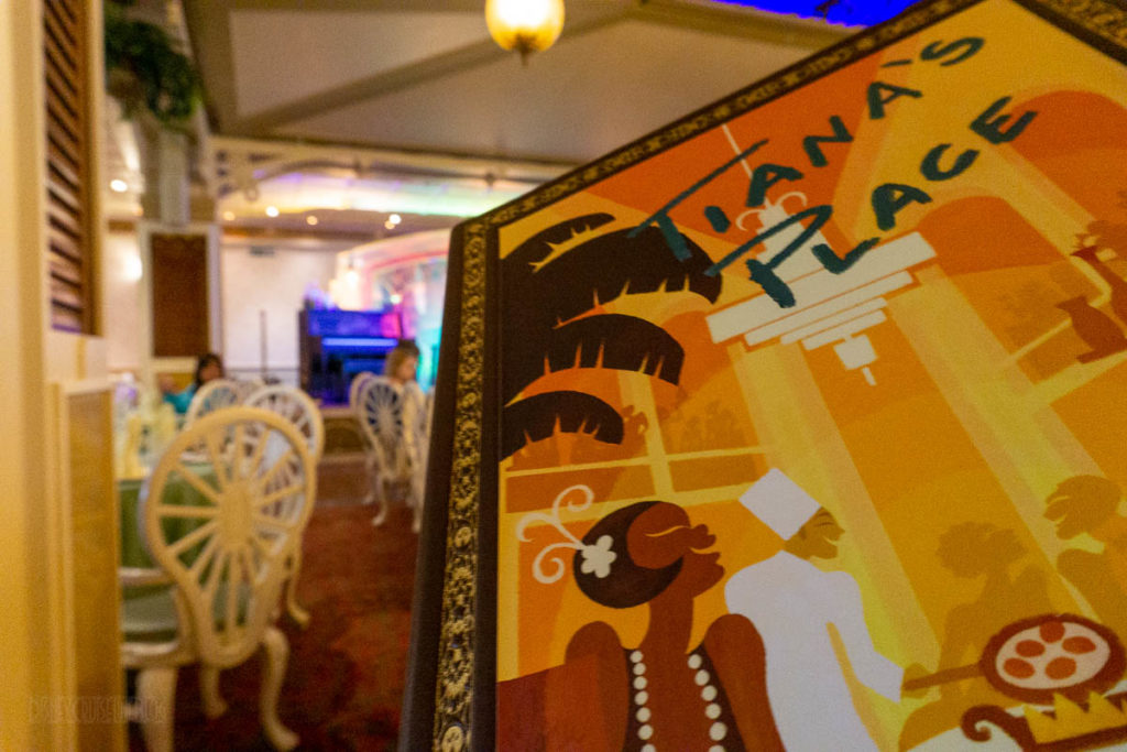 Tiana's Place Princess Regional Menu