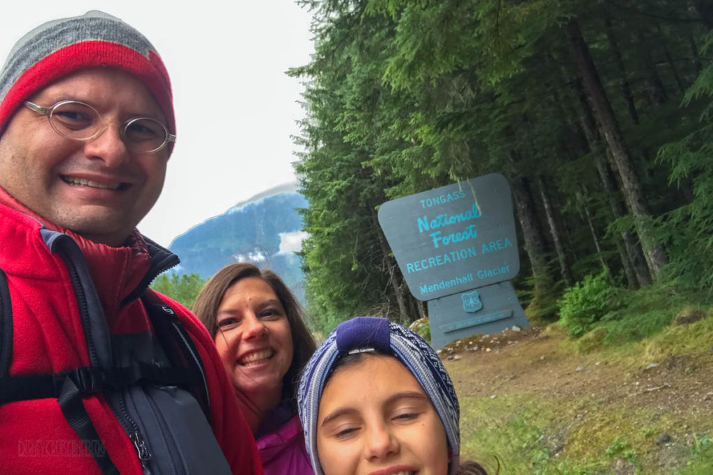 Tongas National Forest Welcome Sign Family Photo