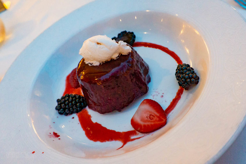 Trition's Dessert Menu Summer Berry Pudding