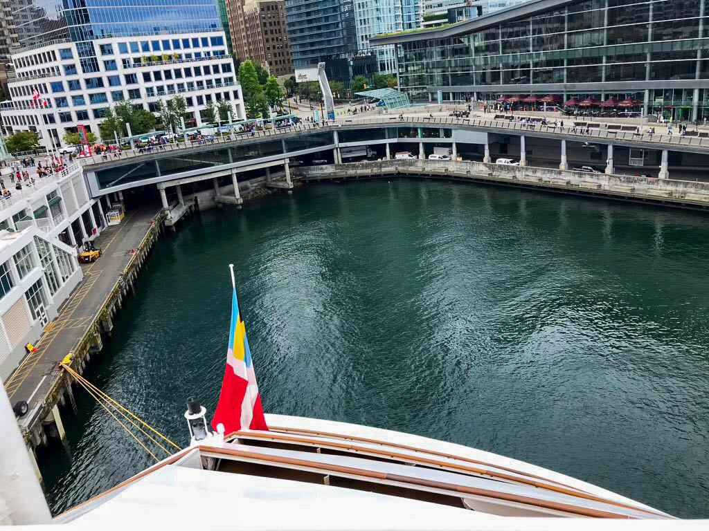 Vancouver Cabanas Embarkation Lunch View