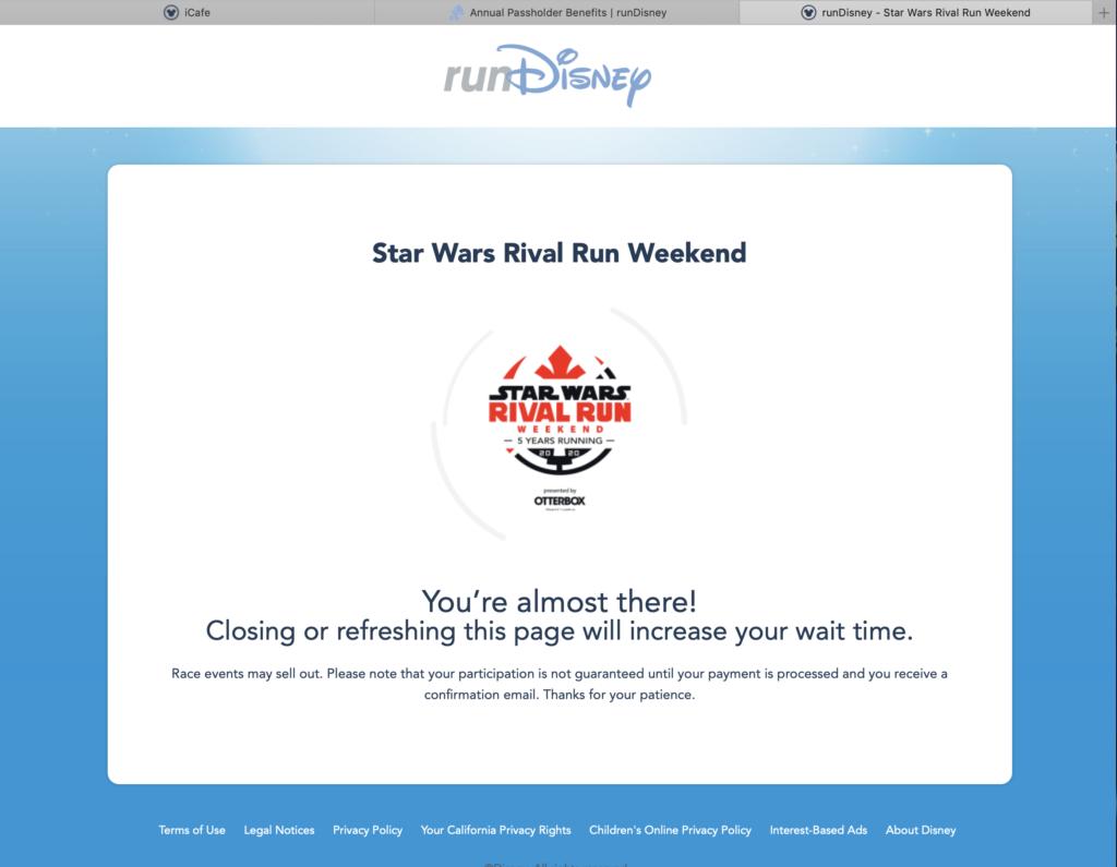 RunDisney Star Wars 2019 Registration