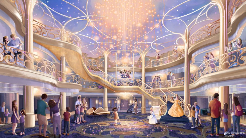 DCL Disney Wish Atrium D23Expo2019
