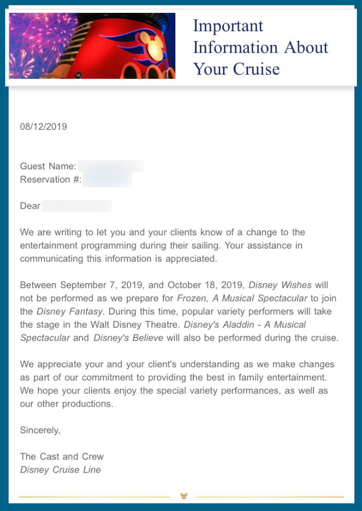 Fantasy Disney Wishes Closing Email 20190907
