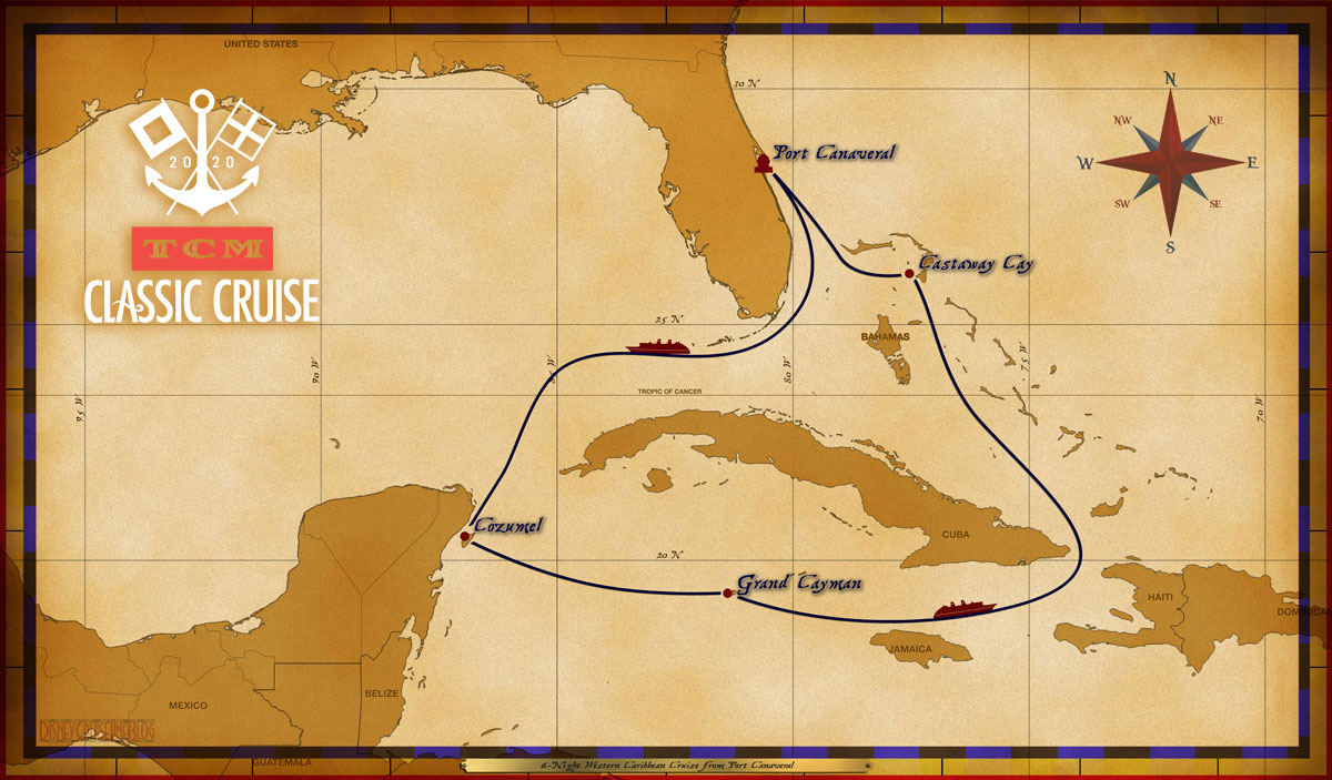 Map Fantasy 6 Night Western Caribbean TCM 2020