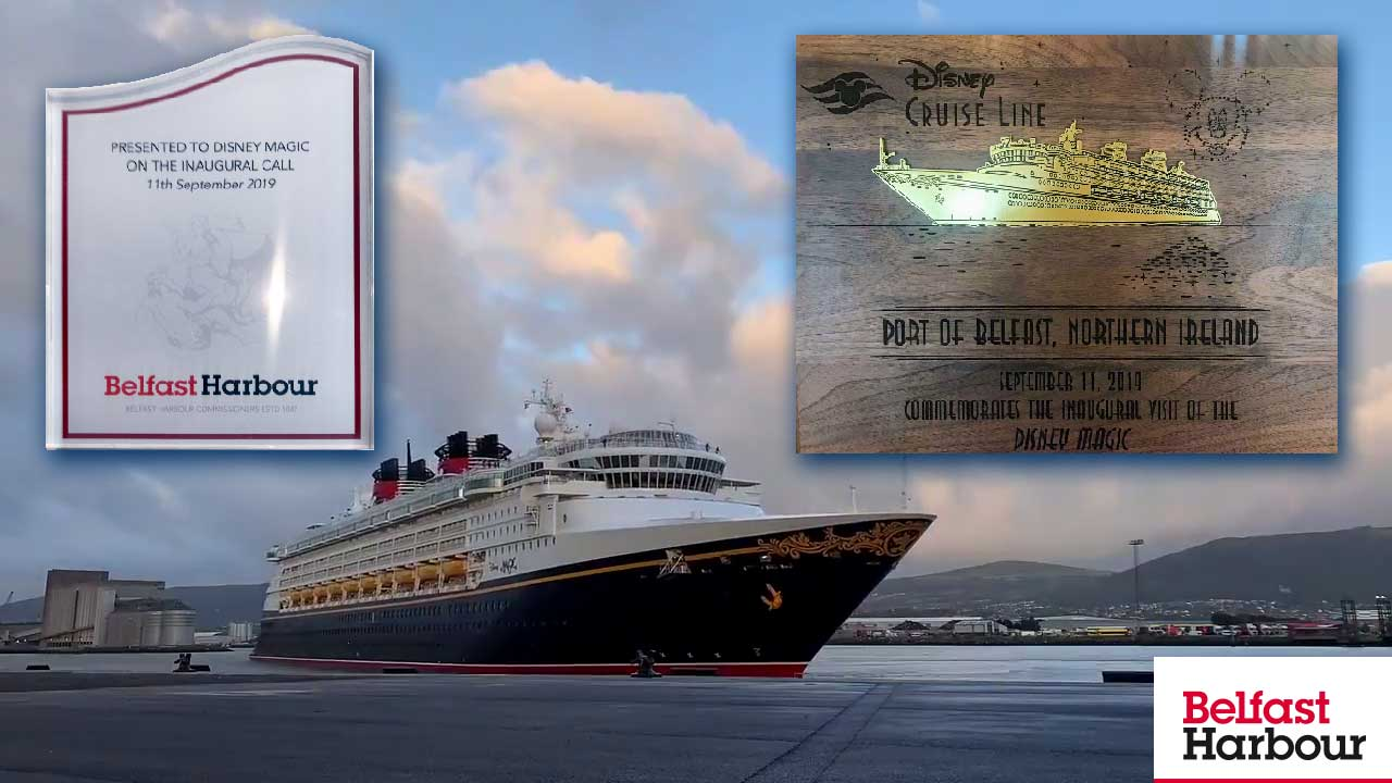 Disney Magic Inaugural Call Belfast Harbour 20190911