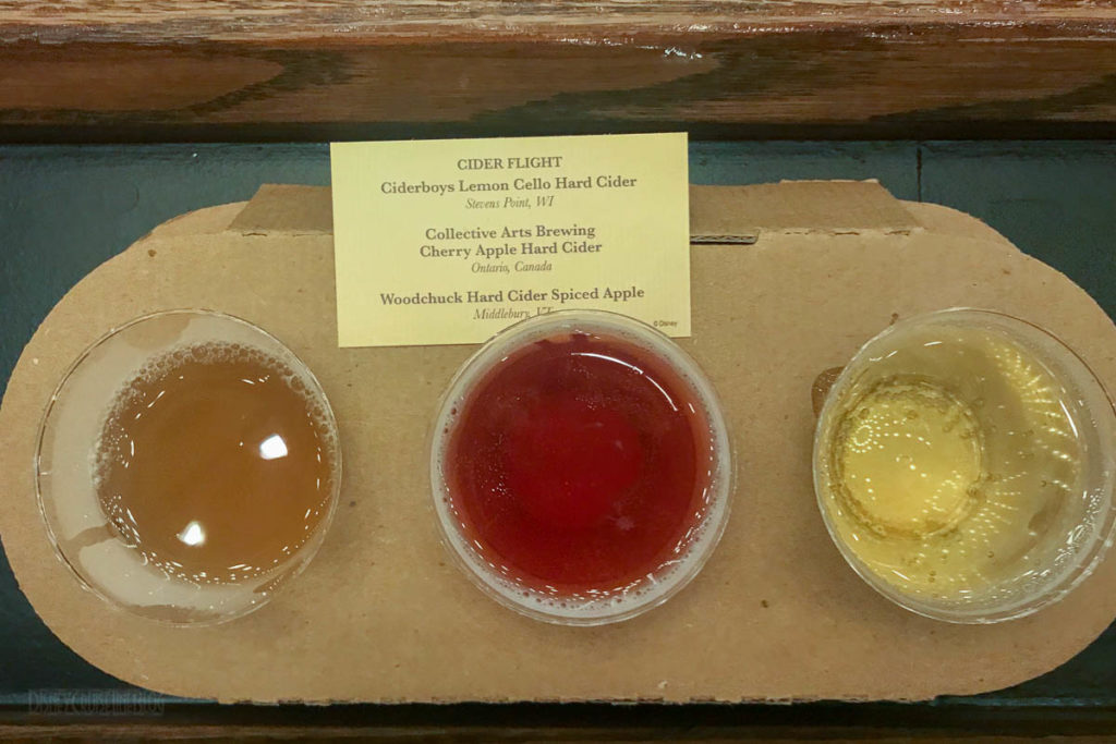 EPCOT Food Wine 2019 Apple Orchard Cider Flight
