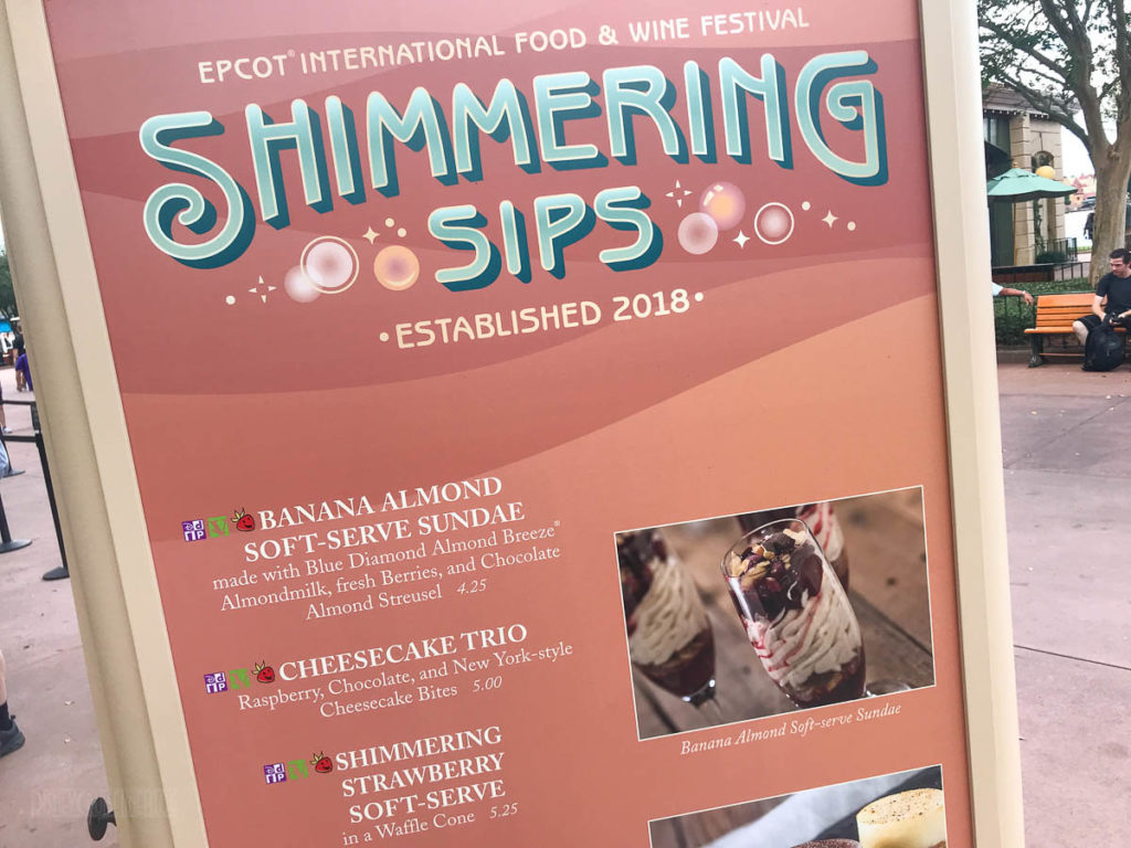 EPCOT Food Wine 2019 Shimmering Sips