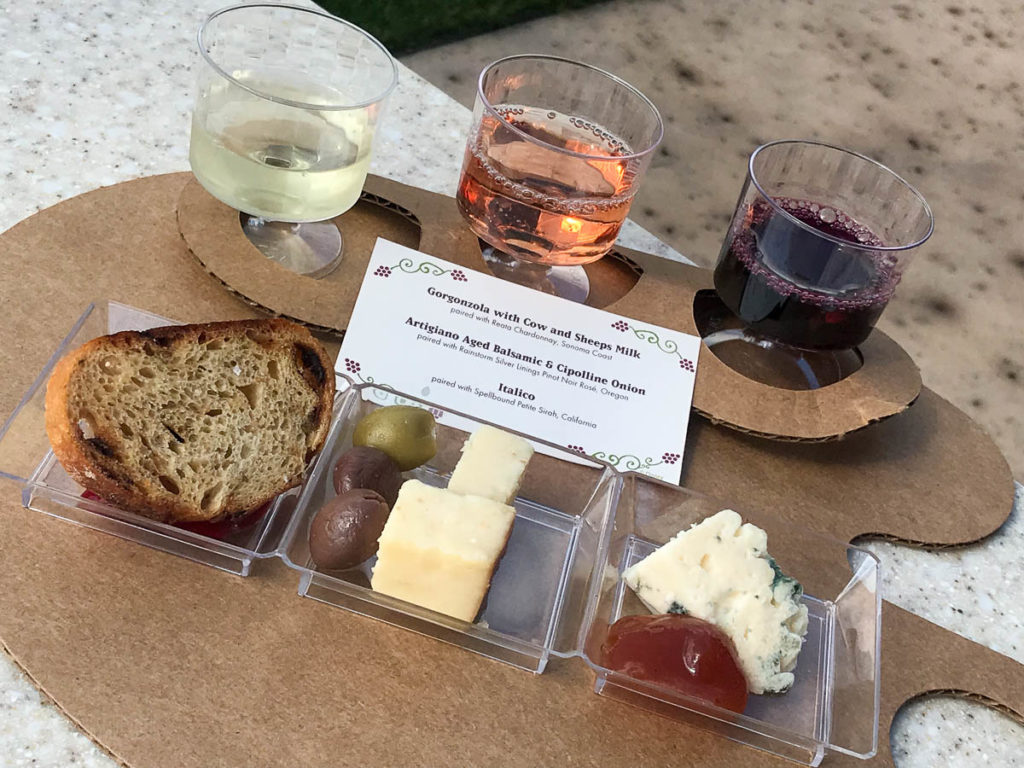 EPCOT Food Wine 2019 Wine Dine Cheese Trio