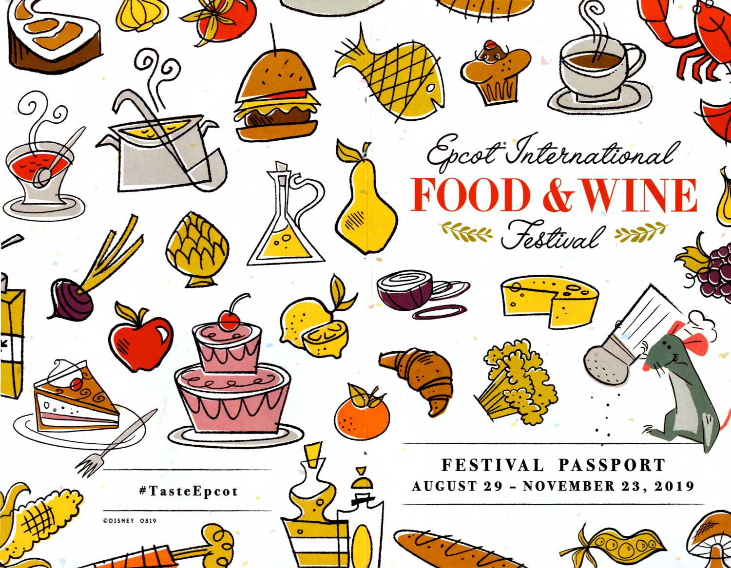 EPCOT Food Wine Festival Passport 2019