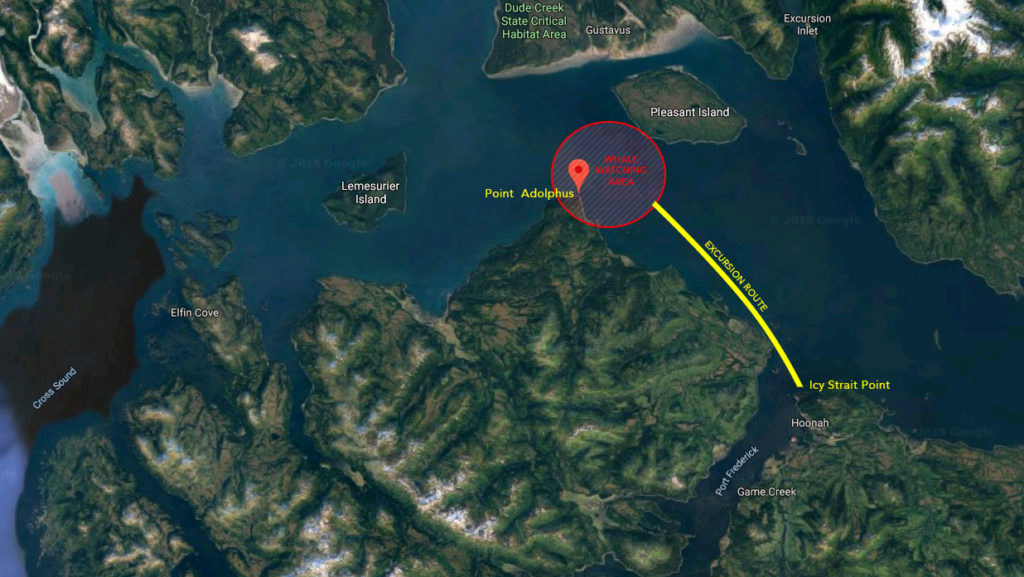 Icy Strait Point Whale Marine Mammals Cruise IS01 Map 20190711