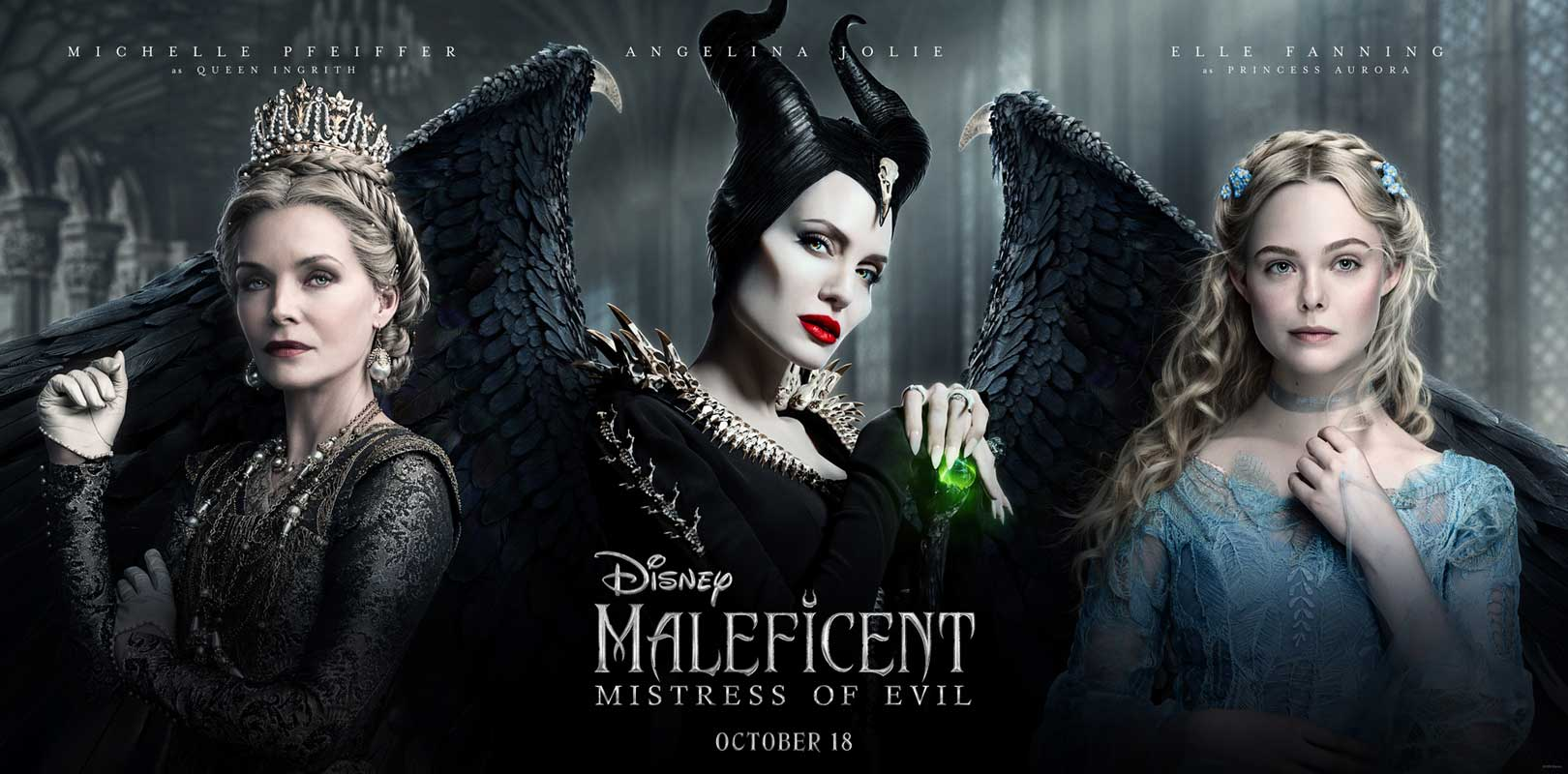 Maleficent Mistress Evil Trio Poster