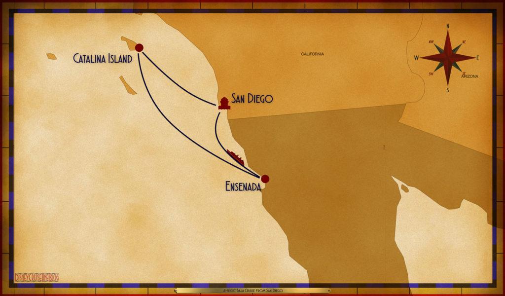 Map Wonder 4 Night Baja SAN AOU ESE SEA