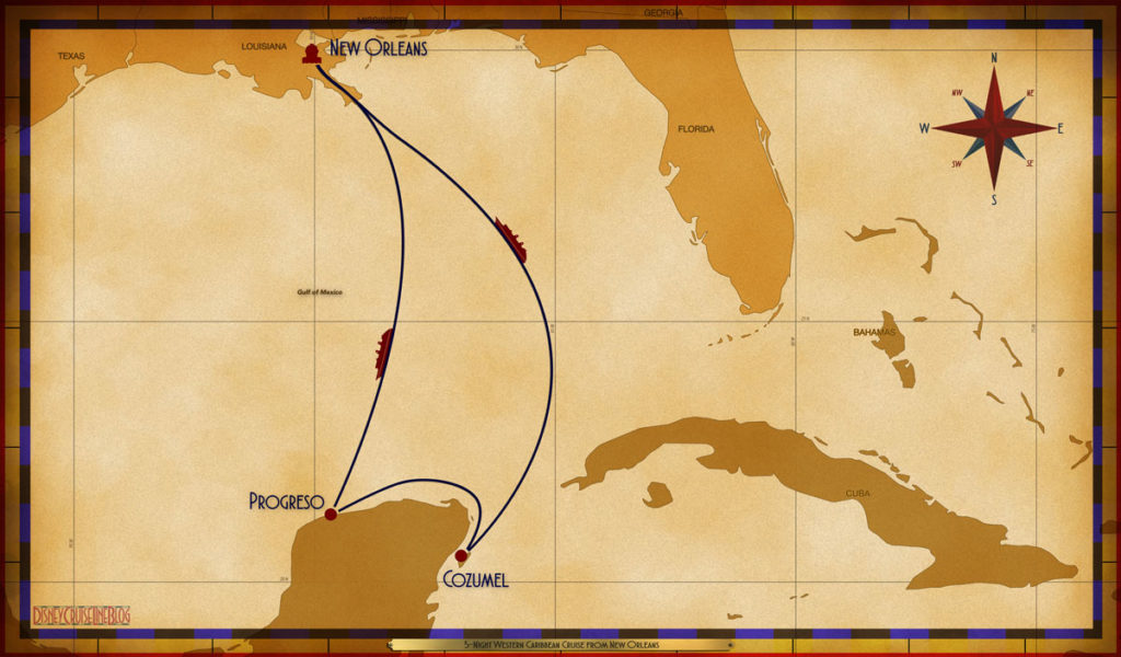 Map Wonder 5 Night Western Caribbean MSY SEA PGO CZM SEA