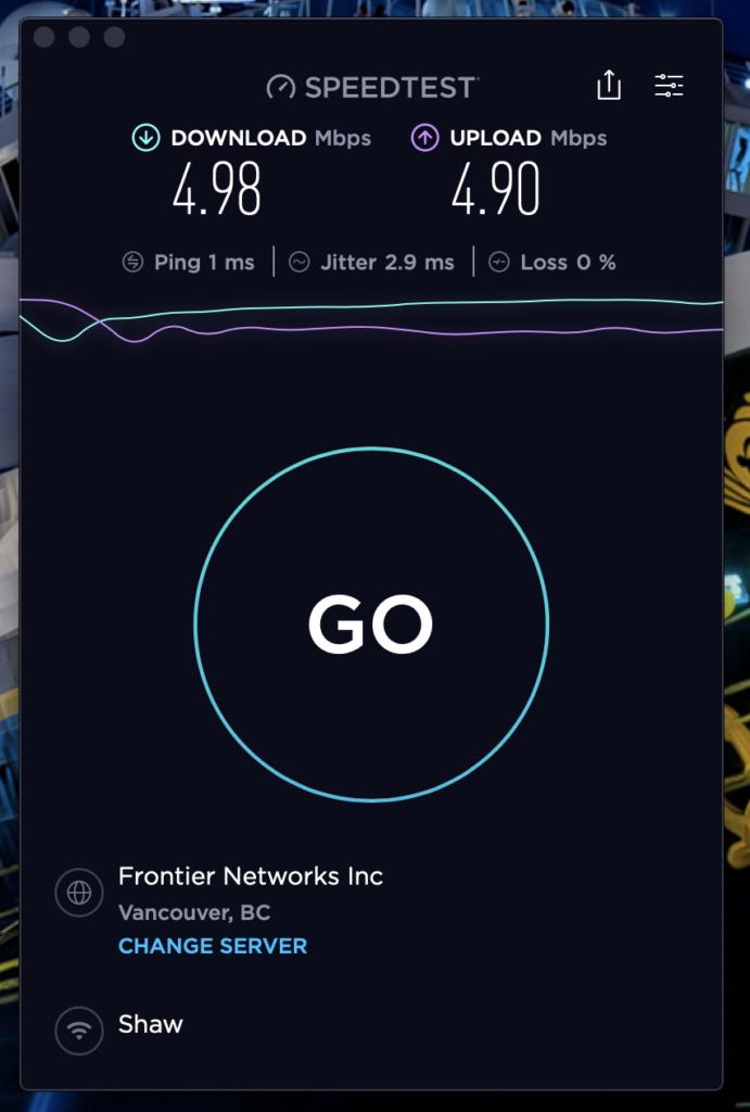 PanPacific SpeedTest VPN