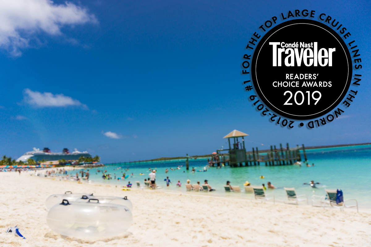 2019 Conde Nast Readers Choice Awards Castaway Cay Family Beach
