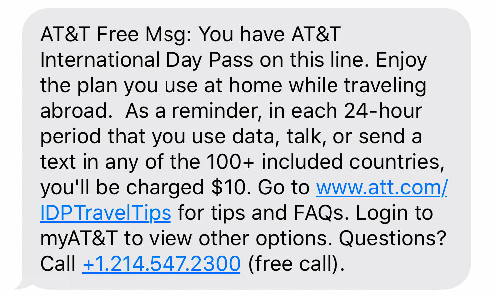 ATT International Day Pass
